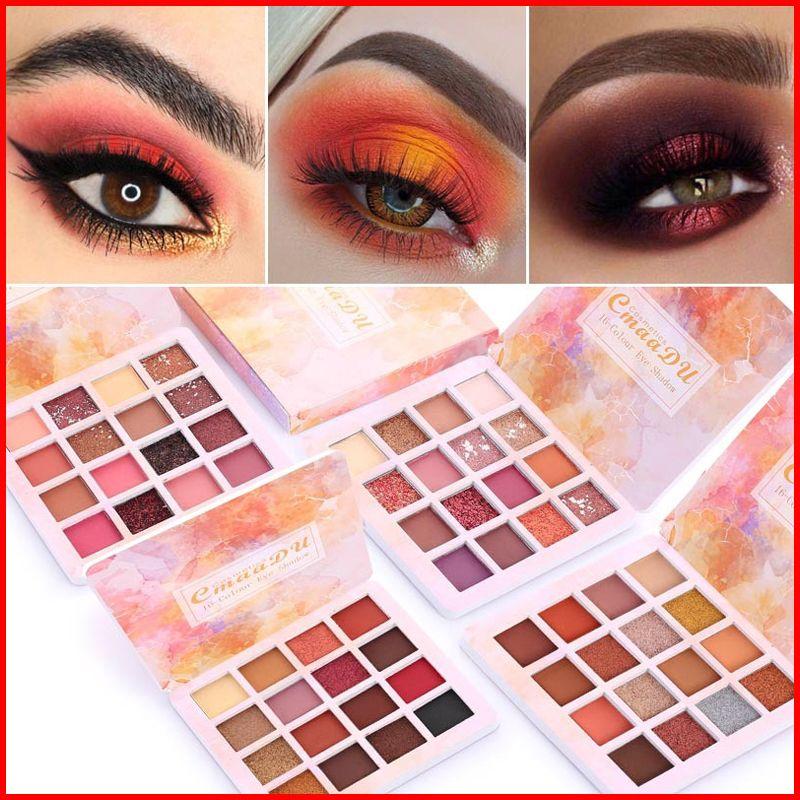 Cmaadu 16 Colors Matte Eyeshadow Palette Waterproof Natural Glitter Pressed Eye Shadow Eyes Makeup Palettes Cosmetic