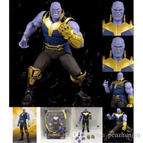 New SHF The Avengers 3 Infinity War Thanos Action Figure Toy kids Gifts Boxed