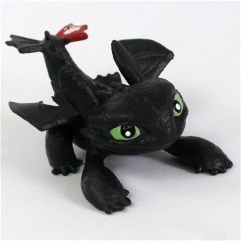7 pcs Plush Toys Night Fury Light Fury Dragon Plush Doll Toothless Dragon Action Figure Toys Children Gift set