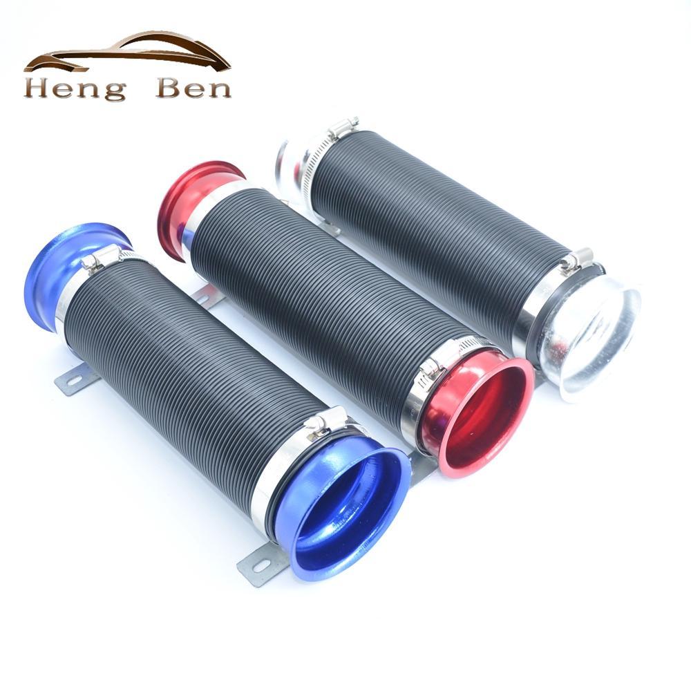 Modifica dell'automobile Forniture tubo di ventilazione del tubo della presa del corredo della presa d'aria del tubo 76MM espandibile aria fredda