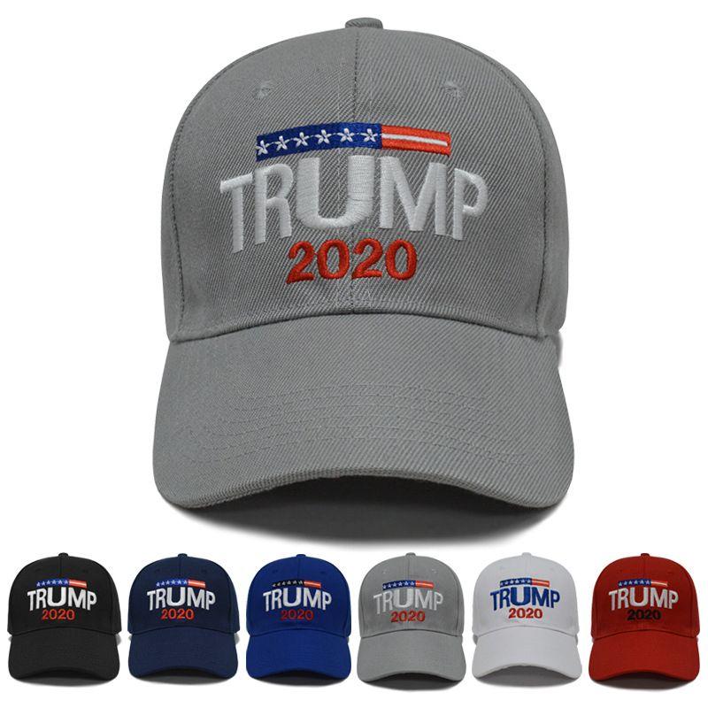Bordado Deportes de 6 estilos Trump 2020 gorra de béisbol ajustable sombreros del sombrero 3d aire libre del verano sombreros de la playa Zza2117 7 QRNVQRNV