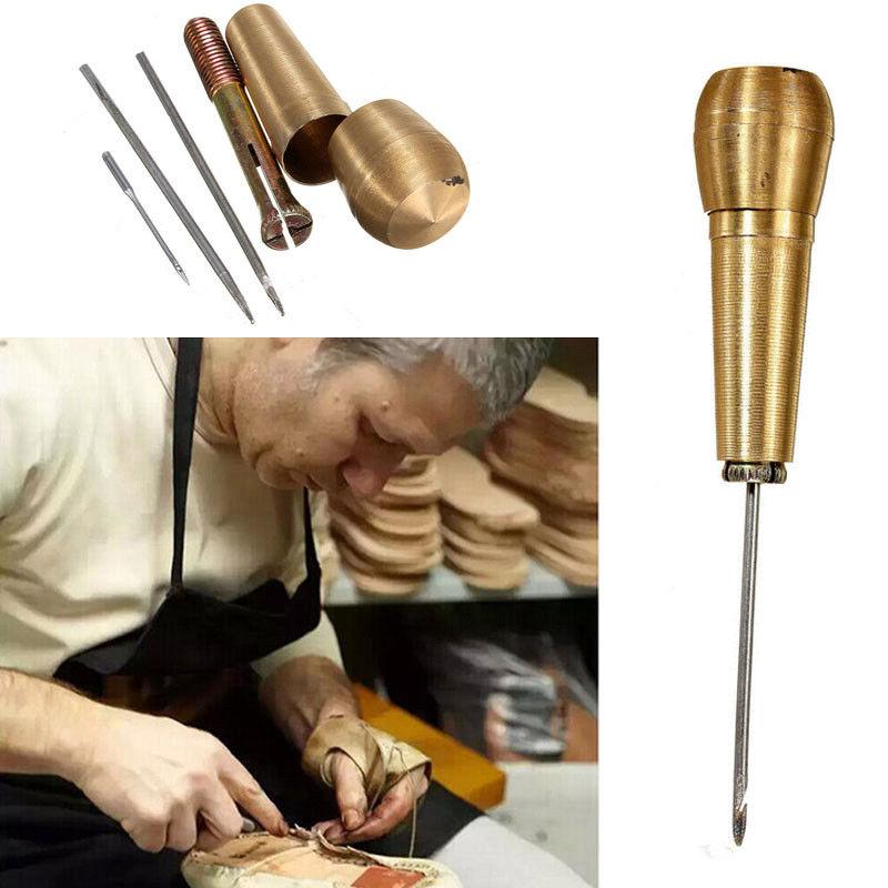 1set of Sewing Shoes Repair Tools Tools Needle Awl Leather Craft Kit Handtool