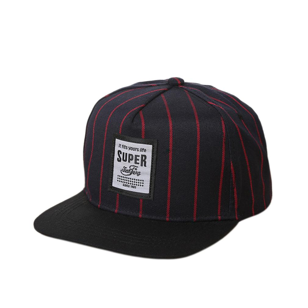 NOUVEAU Mode Adulte Hommes Type de broderie Pare-soleil Cap Voyage Stripe Baseball Cap