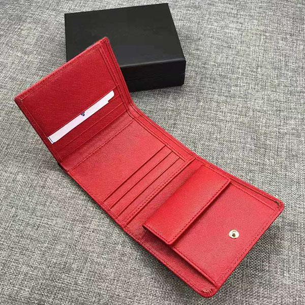 Atacado New Leather Multicolor da bolsa da carteira Data código da carteira cartão de curto carteira Titular Ms. Mens clássico Fivela Bolso 0176