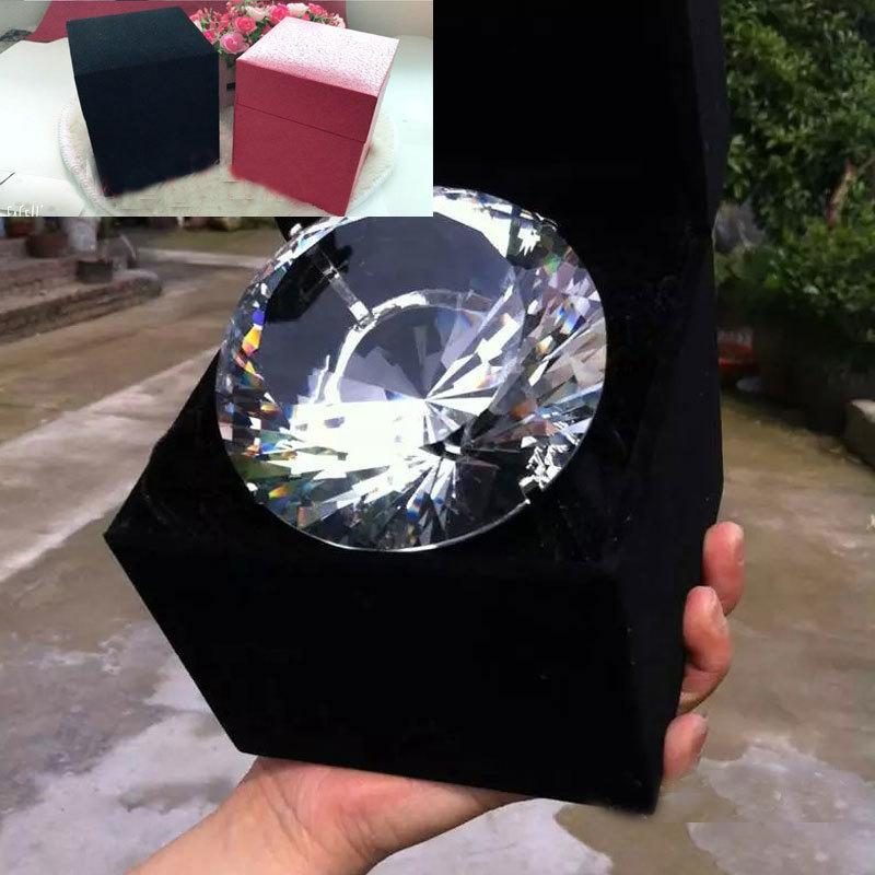 80MM 150MM Artificial Crystal Super Large Engagement Ring Wedding Props Photography Props Anniversary Birthday Gift Cosplay Accessories Ring