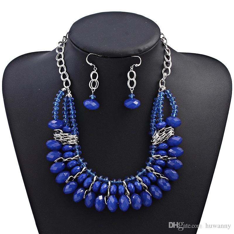 Gioielli Bohemian Imposta nuovi orecchini di vendita calda e collane Set per gioielli di moda regalo delle donne della ragazza di partito commercio all'ingrosso libero di trasporto 0414WH