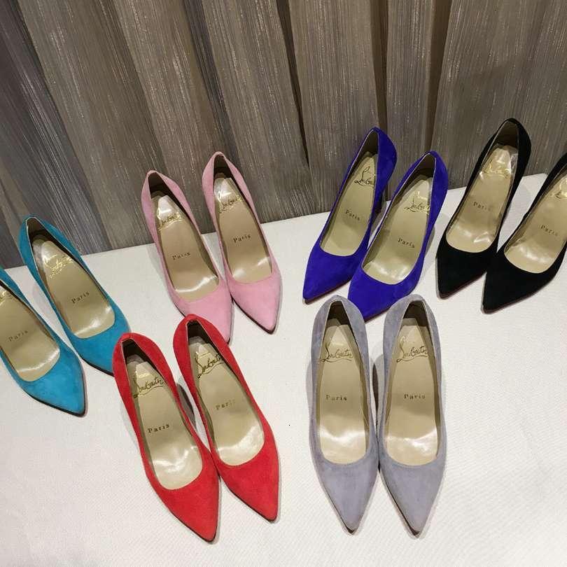 2018 nouvelle mode des femmes de couleur solide à haute Stiletto Sandales à talons en daim Chaussures Casual Pointu Bandage Sandales 110605
