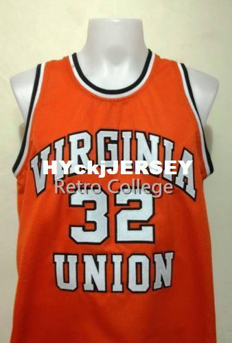 buy online 3de46 683e0 2019 #32 Ben Wallace Virginia Union University Top Basketball Jersey All  Size Embroidery Stitched Customize Any Name And Name XS 6XL Vest Jerseys  From ...