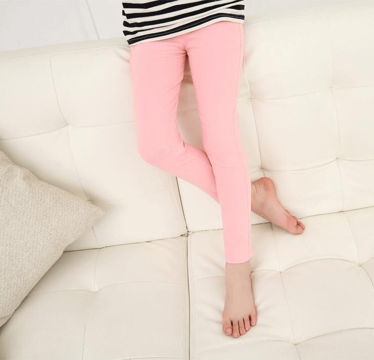 Spring Summer Girl Pants Candy Color Cotton Girl Leggings Children Kids Pants Slim Pencil Pants For Girl Age 3-13T