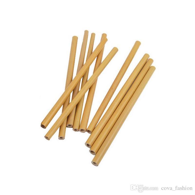 Cannucce Di Bamb.Acquista Cannucce Di Bambu Riutilizzabili Cannucce Di Bambu Cannucce Naturali Ecologiche Artigianali 15cm 18cm 20cm 23cm A 0 19 Dal