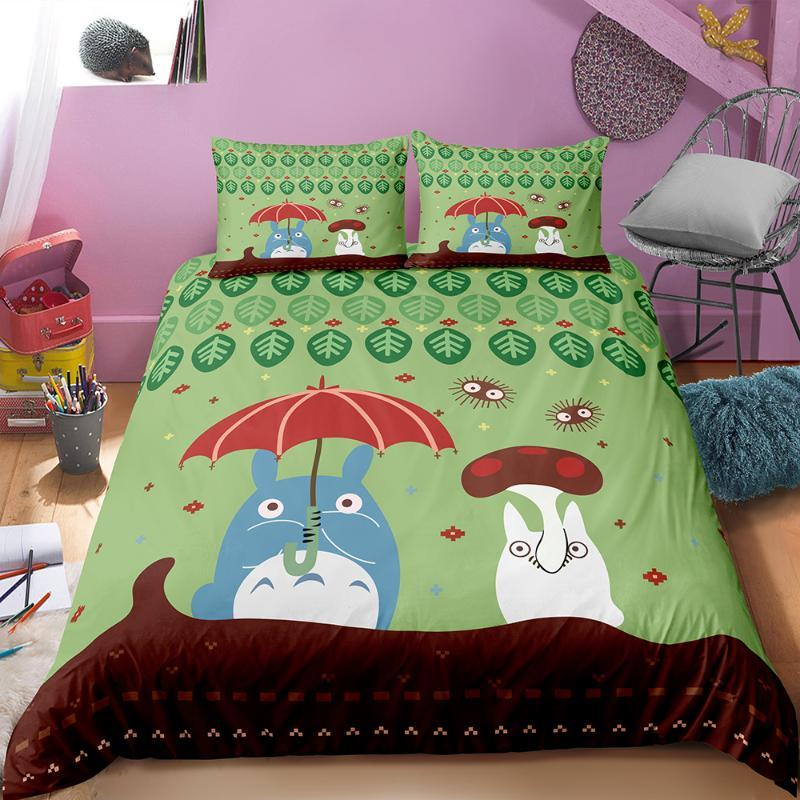 3D Printed My Neighbor Totoro Duvet Cover Set Luxury Microfiber Bedding Set Twin Queen King Size Quilt Cover Home Textile