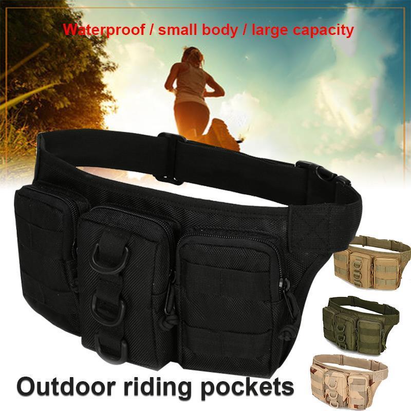 Pratique 4 Couleur Polyester léger en fibre de plein air équitation poches Tactical Triple Pocket Camping sport unisexe Pocket
