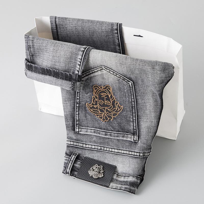 Wear Homens de Moda de Nova Original Design Homens Moda Jeans Perfeito Calças Qualidade reta calças Hy5580