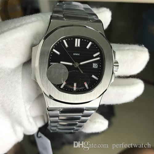 U1 Fábrica Masculino Relógio de pulso mecânico automático de aço inoxidável azul Strap Dial gravado Nautilus alta qualidade Folding Buckle