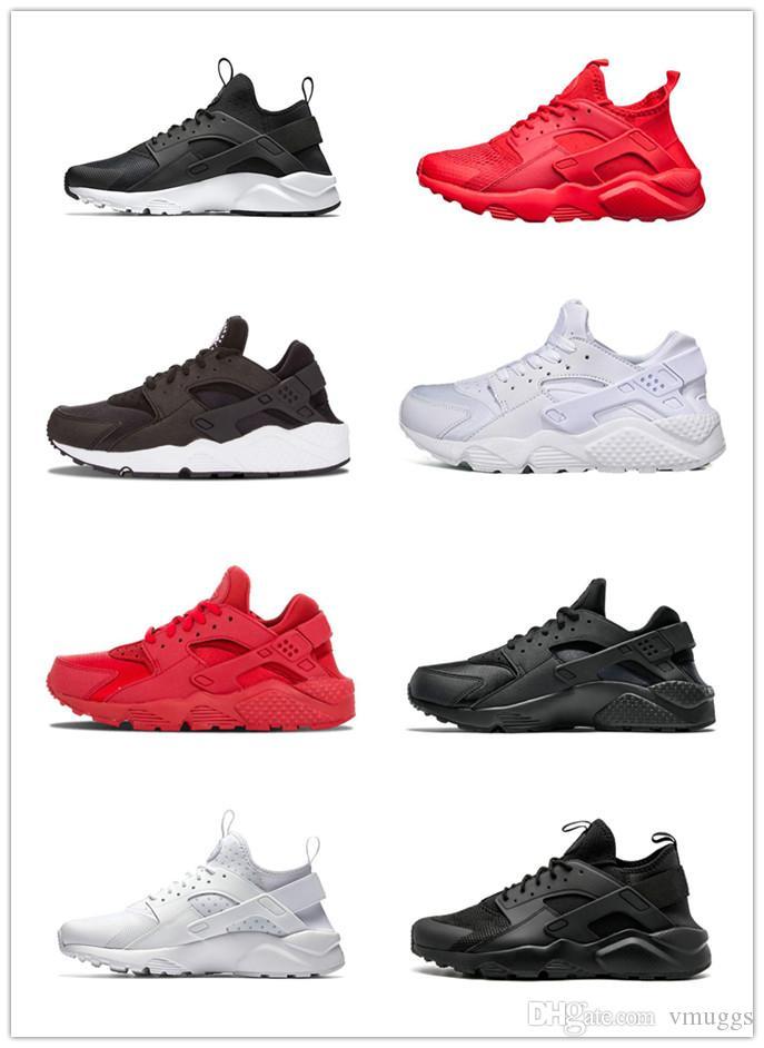 2019 Мужчины Huarache I кроссовки Мужчины Женщины Спортивная обувь Тройной Черный Белый Золото Huraches 1,0 Женщины Открытый Тренер Кроссовки размер 36-45