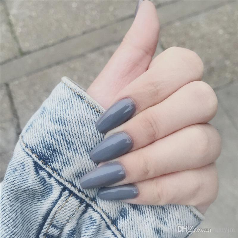 Temperament Jelly fake nails !shine dazzling Gothic dark society ballet with false nails Low-key costly The ultimate in nail art!