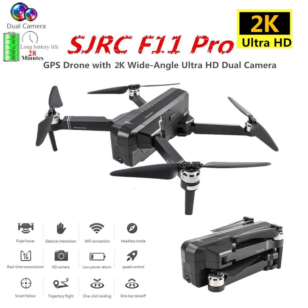 Sjrc F11 PRO GPS بدون طيار بكاميرا 2K HD بلا فراش رباعية 1600m مسافة التحكم تطير 26 Mins VS SG906 B4W Dron Boy Gift T200420