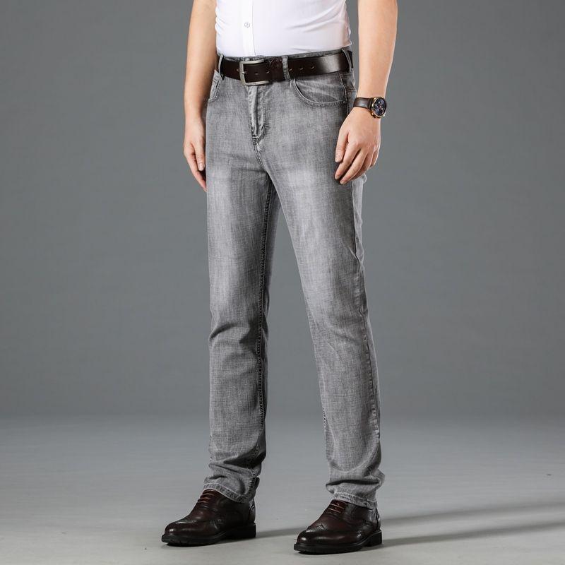 Estate nuovi dei jeans uomini Business Casual Dritto Sottile pantaloni da uomo Plus Size 40 Altezza cotone Jeans