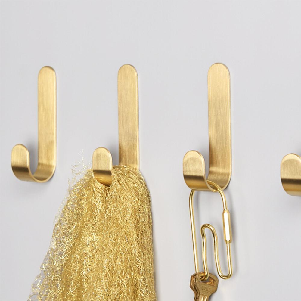 4 шт / комплект Многоцелевой Jacket Вешалка ключей Сумка держатель для настенного крепления в стойке Для дома кухонной двери кабинета