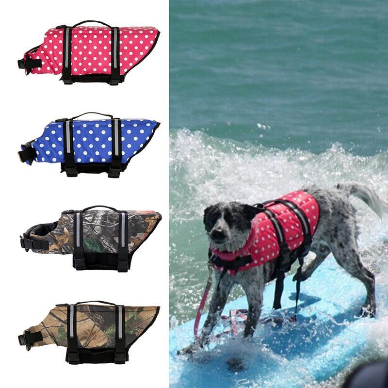 Costume da bagno estivo da compagnia con anello a D per guinzaglio per cani Riflettente Life Jacket Canotta da nuoto galleggiante Canotta di sicurezza per animali domestici