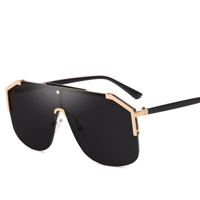 2019 Olvio lunettes de soleil surdimensionnées Femmes Hommes Marque Miroir Lunettes de soleil Oculos De Sol Feminino Lunette Gafas Mujer