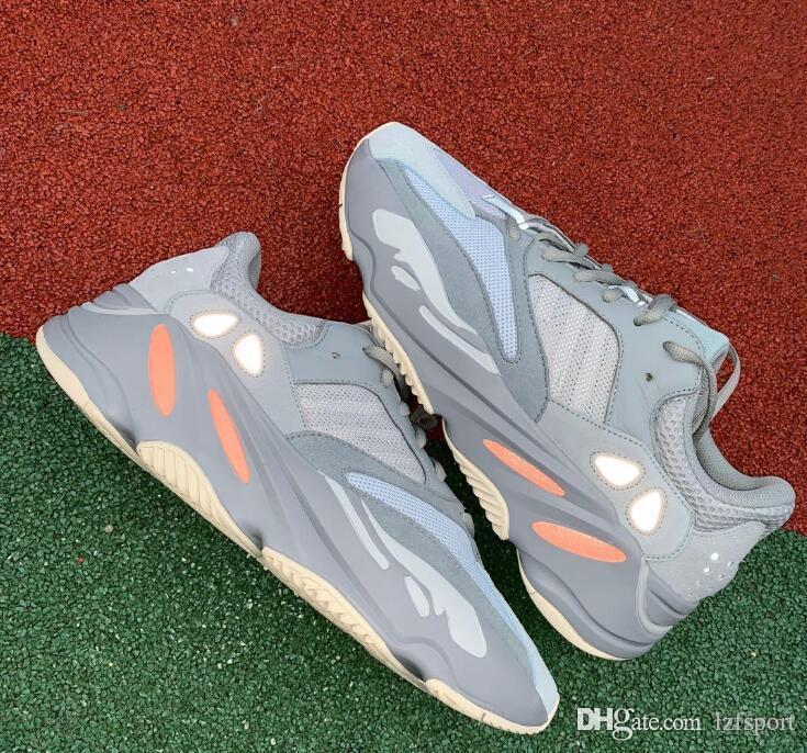 2018 New Wave Runner 700 V2 Cinza Estático Macio Mauve Kanye West Tênis de Corrida Melhor Qualidade Das Mulheres Da Moda Tênis de Atletismo de Esportes