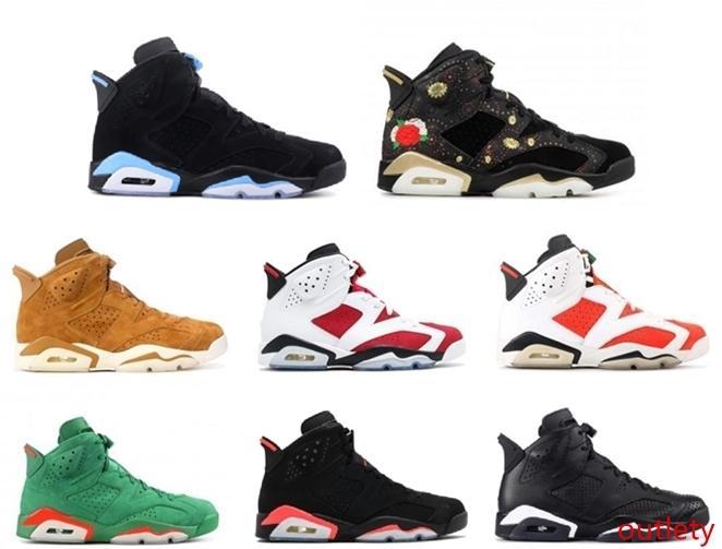 con el hombre y para mujer zapatos de baloncesto de la Universidad 6S Negro Gato alternativo Gatorade Verde Azul Carmín de las zapatillas de deporte de diseño de marca para hombre