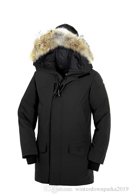 2019 Nouvel Ariival! Manteau d'hiver Down Parka Langford des hommes de la plus haute marque Canada Parka Arctic Marine noir vert rouge Outdoor Hoodies DHL