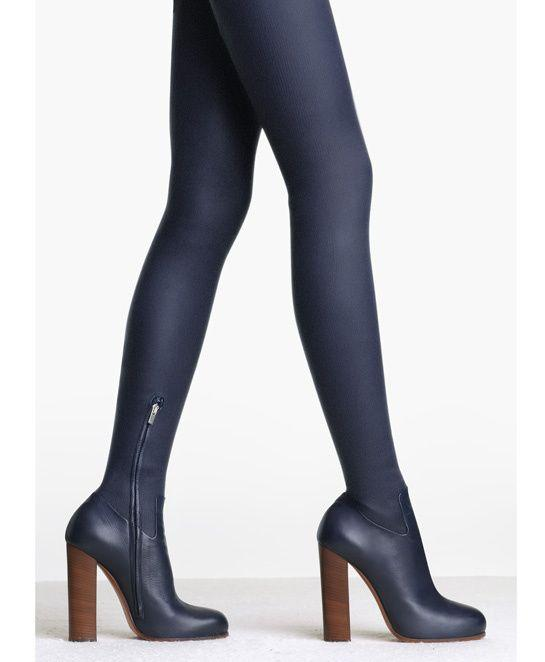 2019 Hot Stretch Leather Women Round Toe Over The Knee Boots Super High Heel Knight Boots Ladies Sexy Thigh Blue Leather