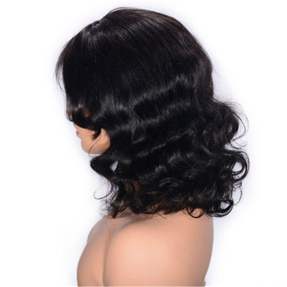 130% Density Malaysian Wavy Hair Wigs for Women Unprocessed Virgin Lace Front Human Hair Wig Natural Color