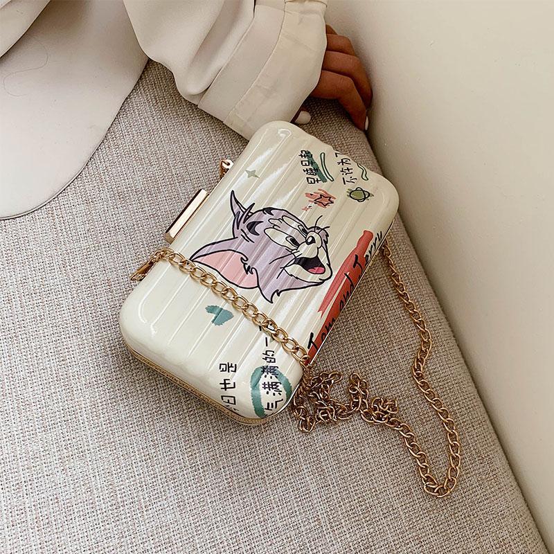 Net Red Berühmtheit spornte Mini-Tasche Damen Tasche Art und Weise gedruckte Messenger Frühling und Sommer Allgleiches Kettenschulter