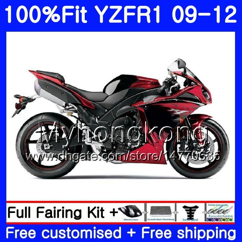 Впрыск для YAMAHA YZF 1000 R 1 YZF R1 2009 2010 2011 2012 241HM.32 YZF-1000 Глянцевый красный горячий YZF-R1 YZF1000 YZFR1 09 10 11 12 Комплект обтекателя