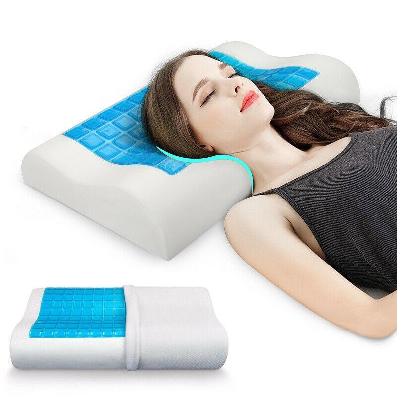 Almohada de gel de espuma viscoelástica cómoda para un sueño relajante y refrescante