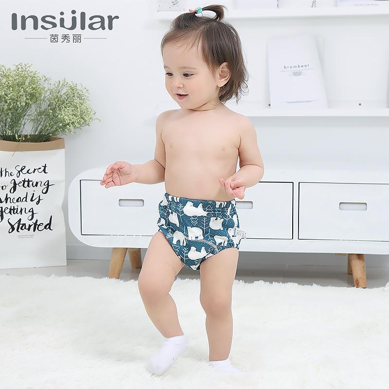 Yin Xiuli 2 Paquet coton lavable Pantalon de formation d'apprentissage Pantalons bébé 6 couches Gaze Pants couches pour bébé produits transfrontaliers