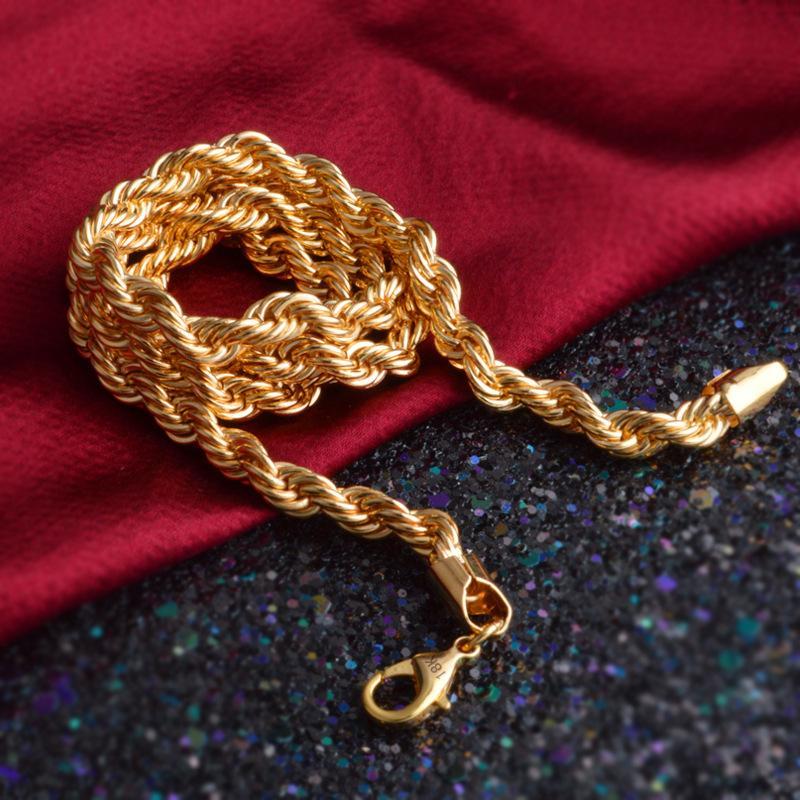 Титан Сталь Серебро Золото Мужская ожерелье Twist цепи Длинные ожерелья Подарки для женщин ювелирные изделия высокого качества Accesory