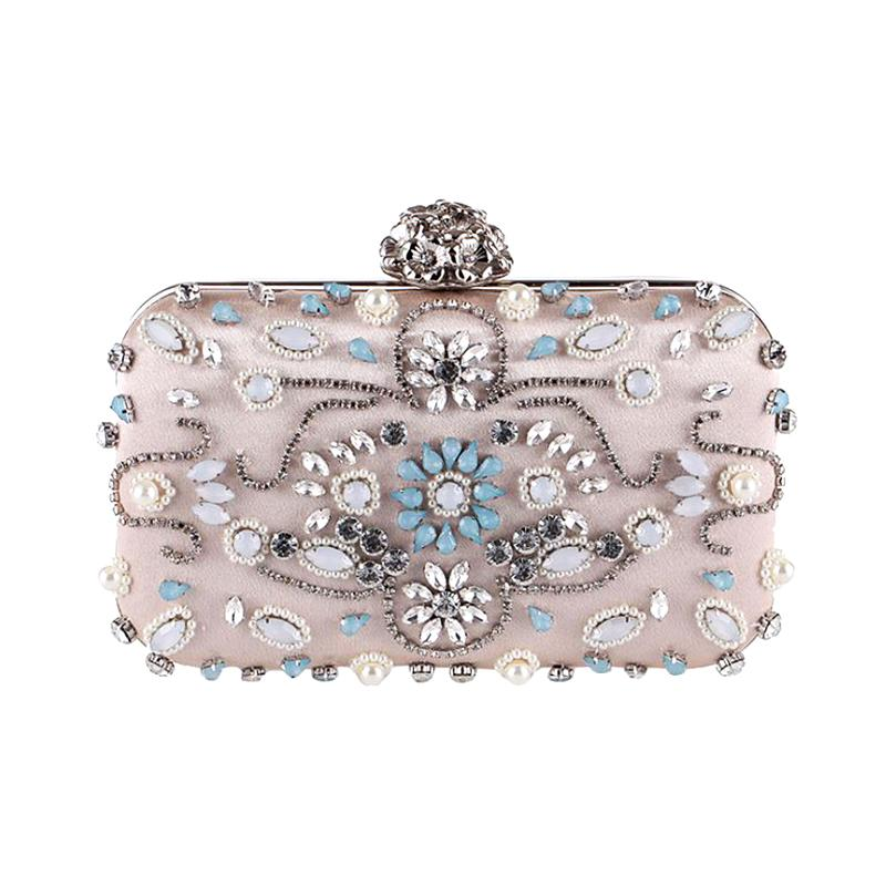 Luxury Women Evening Bags 2017 Fashion Handmade Diamond Banquet Evening Bag Crystals Women Bag Clutch Bride Wedding Party Purse