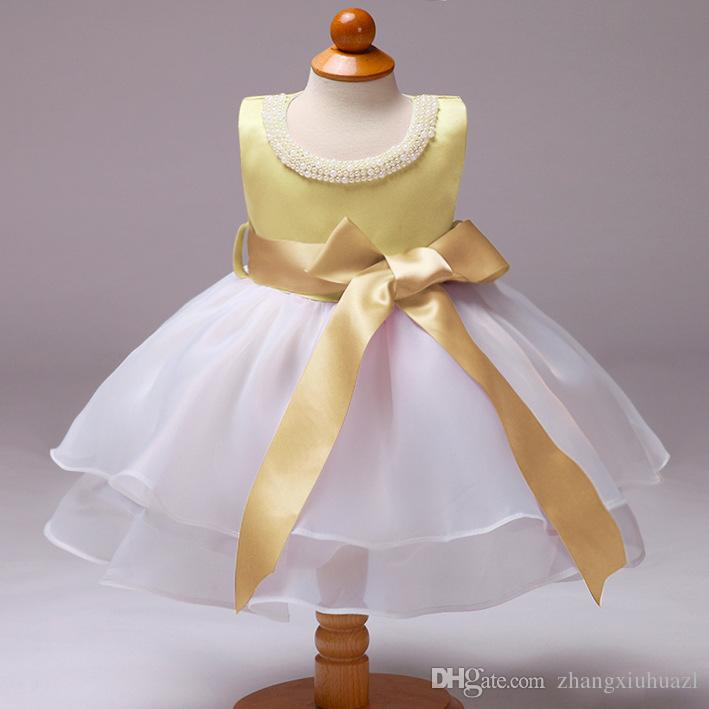 Summer dress Flower Toddler Baby Girl Infant Princess Dress BabyBaby Girl Wedding Dress Lace Tutu Kids Party Vestidos for 1 Years birthday