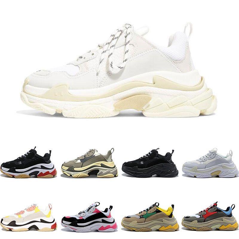 erkekler kadınlar platformu spor ayakkabılar 2020 üçlü s ayakkabı tasarımcısı siyah beyaz Bred erkek eğitmenler moda spor ayakkabı rahat ayakkabı Açık