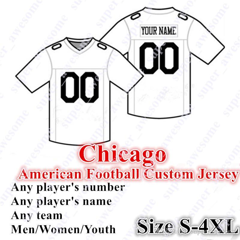 Jersey de football de Chicago sur mesure 4XL 52 Mack 10 Trubisky 32 Montgomery 12 Robinson II 17 Miller 97 Williams 58 Smith 23 Fuller 34 Payton Ditka