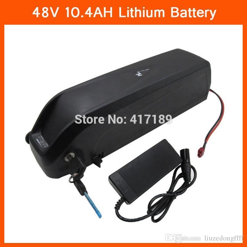 Frete grátis 48 V 500 W Bicicleta Elétrica Da bateria 48 v 10.4ah bateria de iões de lítio uso da bateria para samsung Carregador de celular