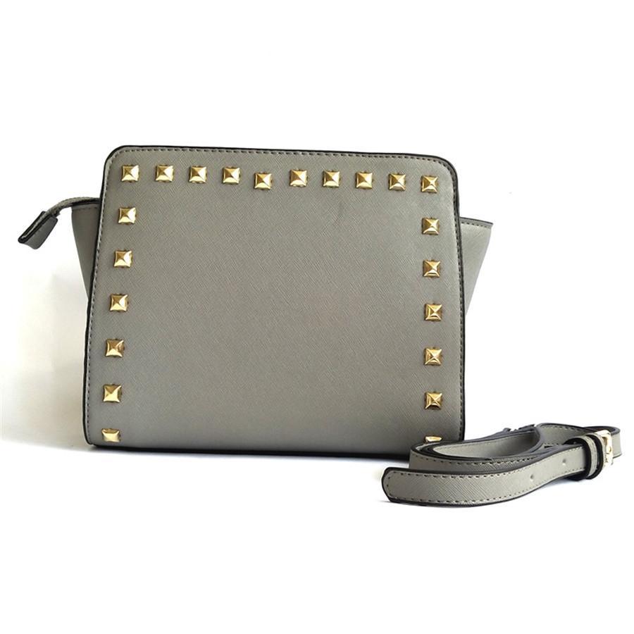 Marca Moda Mini Bags Designer ombro bolsa de ombro mulheres Luxo Bag Couro Bolsa Carteira Bolsa de Ombro Rivet Clutch # 697