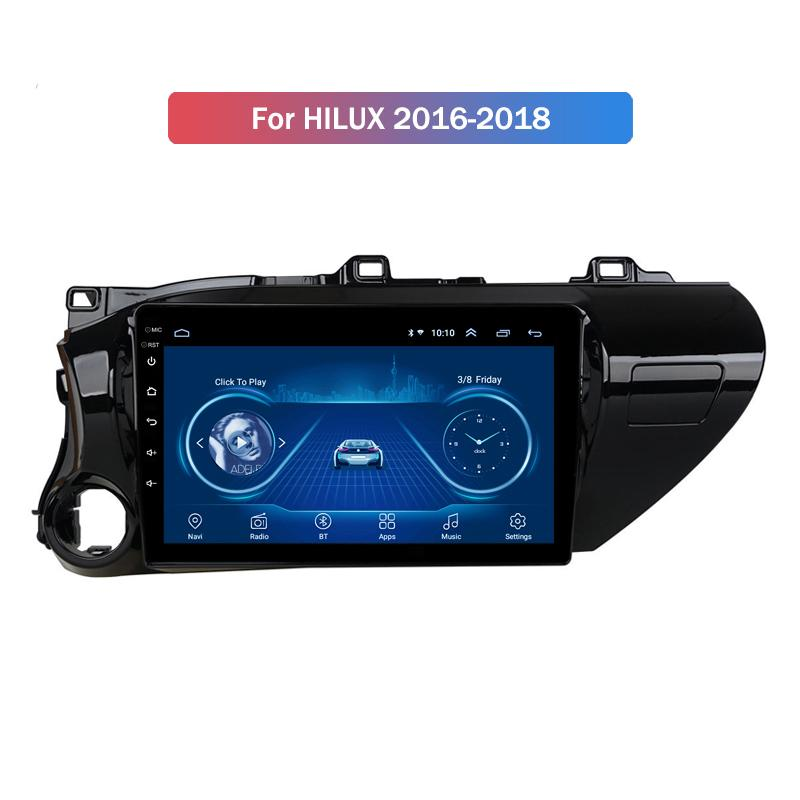 10.1 Inch Android 10 Unit for TOYOTA Hilux 2016-2018 Car DVD Radio PLAYER Multimedia Navigation GPS