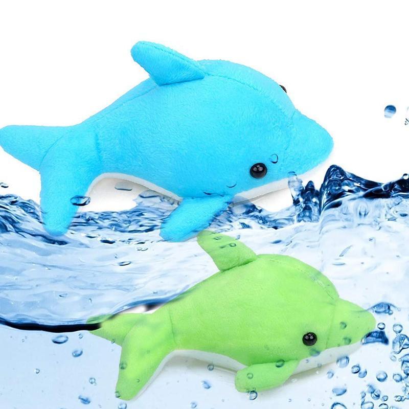 1Pcs novità assorbe l'acqua Dolphin peluche della bambola Baby Shower giocattolo del bambino bambini Toy Bagno Bagno assorbire acqua bagno giocattolo per i bambini