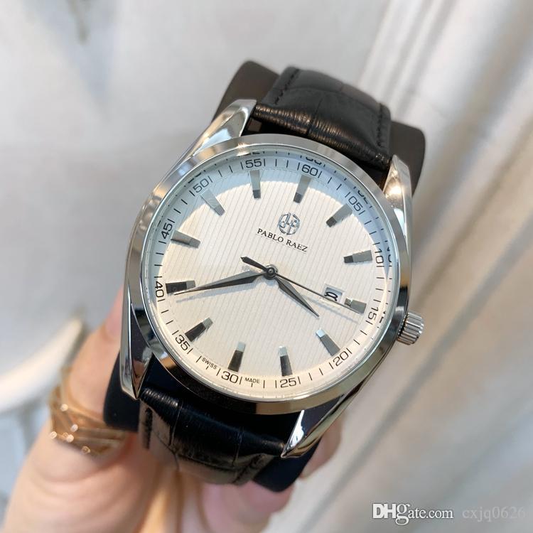 Whosale fiyat Yeni Moda erkek izle siyah deri İyi Perakende Yüksek dereceli izle Erkek lüks saatler en kaliteli tasarım Güzel saatini saatler