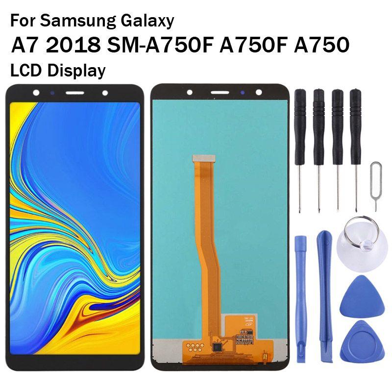6.0 inç Samsung Galaxy A7 2018 SM-A750F A750F A750 LCD Ekran Dokunmatik Ekran Digitizer Meclisi Hücre İçi Suya Değiştir