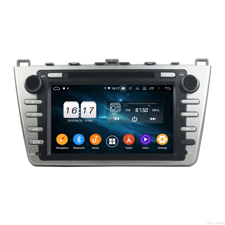 "DSP IPS Octa Core 2 din 8"" Android 9.0 Car DVD Radio GPS for Mazda 6 Ruiyi Ultra 2008 2008 2010 2011 2012 Bluetooth 4.2 WIFI USB DVR"