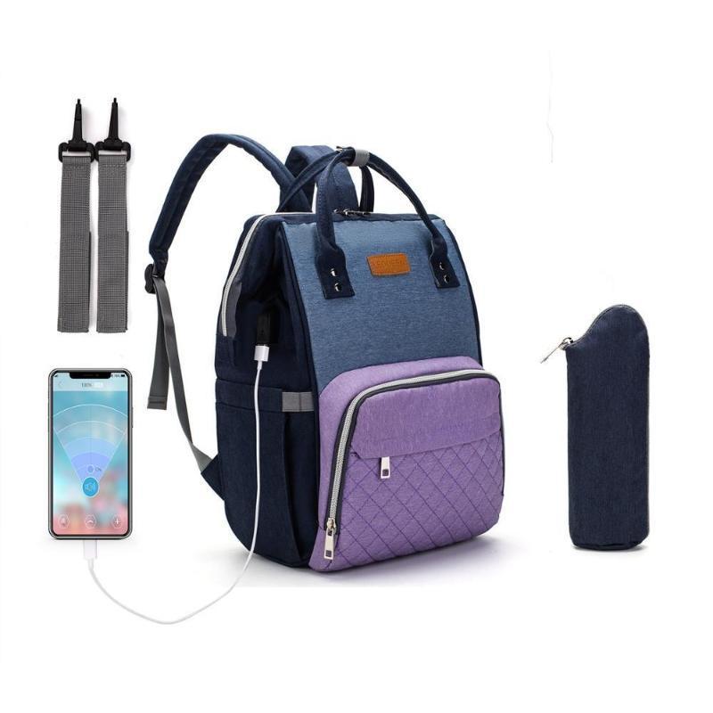 USB Diaper Bag Baby Mummy Maternity Bag for Stroller Diaper Bagpack Waterproof Nappy Backpack Nursing Bags With Hooks