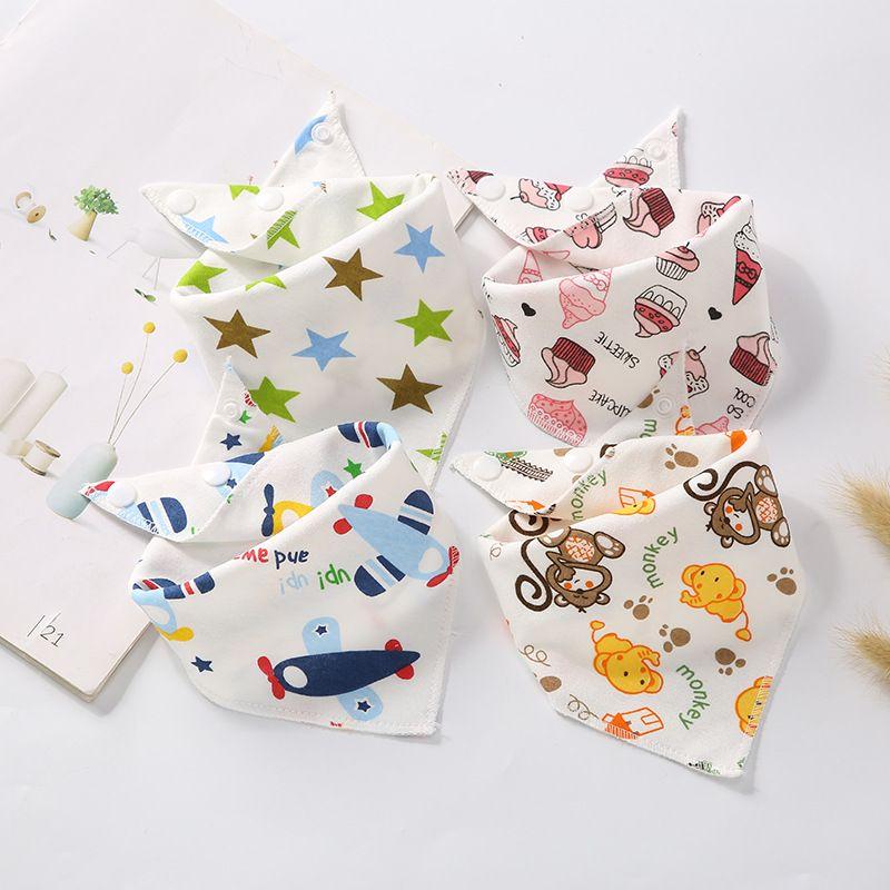 2019 Baby Bibs Boy Girl Bandana Water Absorb Bib Burp Cloth Triangle Cotton Baby Scarf Burp Baby Christmas Accessories