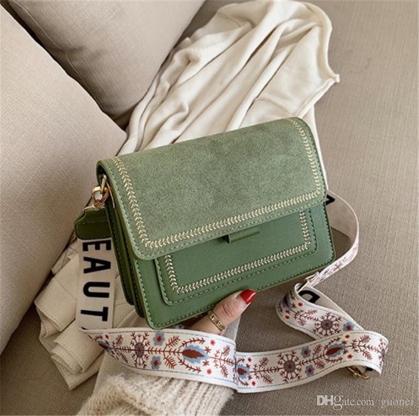 Spalla del progettista-Luxury Satchel della traversa di modo Satchel Piccolo Newset piazza coreana Retro banda larga sacchetto Giovane Girls' Shoulder Bag Fiori