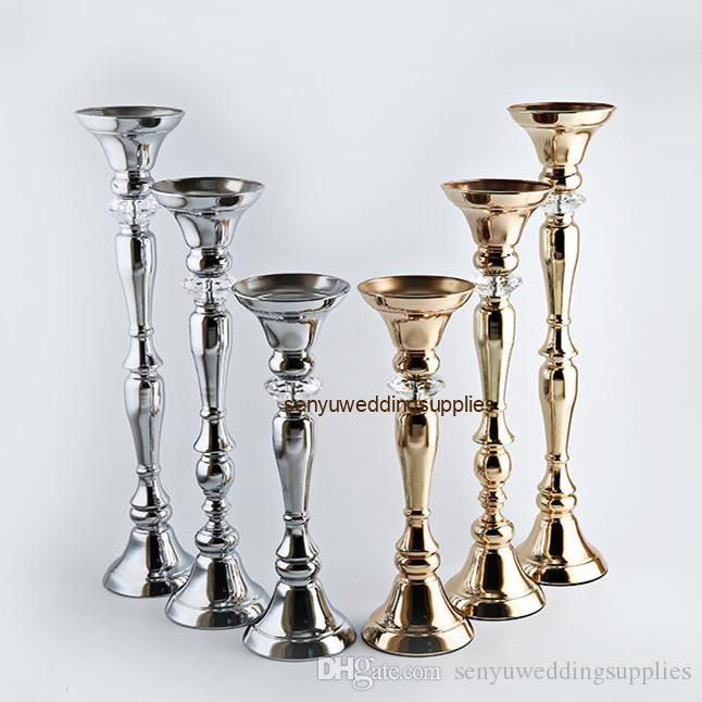 NEw style Flowers Vases Candle Holders Road Lead Table Centerpiece Metal Stand Candlestick For Wedding Party Home Decor Candelabra senyu0365